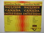 Canadian Pacific - Brochure : Canadian Pacific Sailings to and from Canada short seaway to United States.