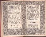 Green, John Richard - A Short History of the English People. Vol. two. [Everyman`s Library, no. 728]