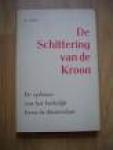Voets, B. - DE SCHITTERING VAN DE KROON - de opbouw van het kerkelijk leven in Amsterdam (geb. + stofomslag)