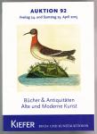 Kiefer, Peter - Auktion 92 Freitag 24 und Samstag 25 april 2015 Bucher & Antiquitaten Alte und Moderne Kunst