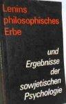 Lompscher, Joachim - Foto des Verkäufers  Lompscher, Joachim: Lenins philosophisches Erbe und Ergebnisse der sowjetischen Psychologie