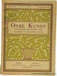 """Greshoff, J. - (Jan Boon, woodcuts) - De houtsneden van Jan Boon. In: """"Onze Kunst, Geïllustreerd Maandschrift voor Beeldende en Decoratieve Kunsten""""."""