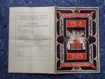 - Inteekenbiljet zevende winterboek 1928 - 1929