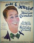 Yvain, Maurice: - Avec le sourire. Edition pour chant et piano