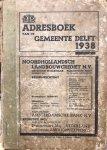 Gemeente Delft - Adresboek van de Gemeente Delft 1938