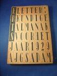 Rietveld, Gerrit (omslag) - Erts 1929. Letterkundige almanak voor het jaar 1929
