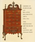 Ward, Gerald W.R. (edited by) - American Furniture with Related Decorative Arts 1660-1830 (The Milwaukee Art Museum and the Layton Art Collection), 314 pag. hardcover + stofomslag, zeer goede staat