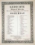 Wolf, Hugo: - Gedichte von Eduard Mörike für eine Singstimme und Klavier componirt (1888). Heft V [Nos. 22-26]