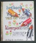 Spreekmeester, Ies - Het boek van de vier kleurpotloden, De drukkerij van de vier kleurpotloden, De 4 kleurpotloden gaan naar Artis, De vier kleurpotloden maken zelf een kleuren-te-ve  - Gouden Boekjes 64,65,66,67 (Golden Books)