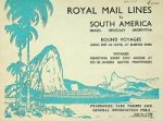 Royal Mail Lines - Brochure Royal Mail Lines to South America Round Voyages