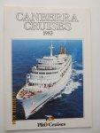 """P&O  Cruises - """"Canberra""""  Cruises 1983"""