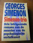 Simenon, Georges vert. G.J. van Wagensveld + K.H. romijn - Simenon-trio. Drie intrigerende romans van de meester van de psychologische vertelkunst. Negerwijk + De Weduwnaar + De trein uit Venetie / Venetië