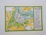 antique map (kaart). - Amsterdam na 1850.