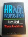 Ulrich, David, Brockbank, Wayne - The Hr Value Proposition