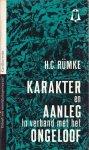 H.C. Rümke - Karakter en Aanleg in verband met het ongeloof