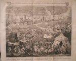 antique print (prent) - Afbeelding van het opbreeken der Belegering van Dordrecht 1418.