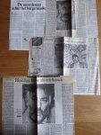 Franssens, Jean-Paul - Aantal (4) knipsels, recensies 'Vriend Dood. Biecht van een lustmoordenaar'