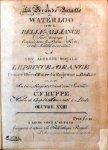 Ruppe, Christian Friedrich: - La grande bataille de Waterloo ou de la belle-alliance (fait historique) oeuvre XXIII