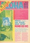 Diverse auteurs - Aloha 1973 nr. 21, 10 t/m 21 februari, Dutch underground magazine, met o.a./with a.o.  PAUL MEIER SHOW (5 p.) , GENE CLARK  (2 p.) , DEEP PURPLE (CONCERT OUDE RAI 1/4 p.) , AMON DUUL (LP-RECENSIE) , MENSJE VAN KEULEN (3 p.) , zeer goede staat