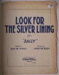 """SYLVA, BUD DE & KERN, JEROME, - Look for the silver lining. (from """"Sally"""")"""