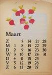 Berg, Siep van den - Kalender 1948 - maart/March
