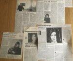 Graaf, Hermine de - Aantal (5) knipsels over Alleen de heldere uren, 1991
