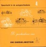Heldt, B.H. - De Geschiedenis van de Dieselmotor (Speurtocht in de autogeschienis 4), 48 pag. kleine hardcover, goede staat