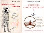 Dubois, Pierre H. - Schrijvers in hun landschap deel I en II; Verkenningstochten door de Franse literatuur