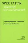 Booij, G.E. e.a. (red.) - Spektator. Tijdschrift voor neerlandistiek, jaargang 15, nummer 1, 1985-1986 / september. Themanummer Literatuurgeschiedenis en Canonvorming