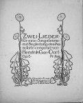 Oort, Hendrik C. van: - Zwei Lieder für eine Singstimme mit Begleitung des Pianoforte. Op. 6