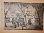 antique print (prent) - Het paleis Kazr-el-Nuza te Kairo (Cairo).