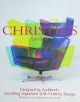 Christie`s London - Designed by Architects, including important 20th century design;  Veilingcatalogus 8 October 2003