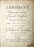 Méhul, Etienne: - Ariodant. Opéra en 3. actes. Paroles d`Hoffman. Dédié à Cherubini