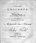 Field, John: - Second concerto pour le pianoforte avec accompagnement de grand orchestre