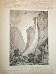 antique print (prent) - De Staubbach in het Berner Oberland.