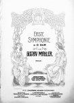 Mahler, Gustav: - Erste Symphonie in D Dur