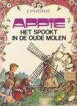 Wilkeshuis, C. - 5 delige Appie-serie (compleet). 1. Appie en zijn vrienden. 2) Appie gaat naar zee. 3) Appie en de verdwenen kamer. 4) Het spookt in de oude molen. 5) Lutinegoud