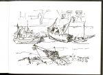 Bakker, Jan - Tussen wal en schip: een verzameling schetsen