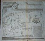 antique print (prent) - Het grau moniken klooster in platte-form na het leeven. (Amsterdam).