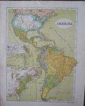 antique map. kaart. - Amerika (America).