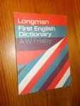FRISBY, A.W., - Longman first English Dictionary.