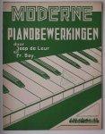LEUR, JOOP DE & FR. BAY, - Moderne pianobewerkingen.