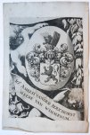 - Wapenkaart/Coat of Arms Bouchorst (Van den).