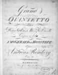 Romberg, Andreas: - [Op. 23] Grand quintetto pour deux violons, 2 altos & violoncelle. Oeuv. 23