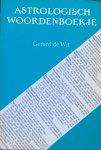 Wit, Gerard de - Astrologisch woordenboekje