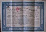 antique stock. (aandeel). - 4 1/2 % Anleihe von 1912 der Wladikawkas Eisenbahn Gesellschaft.