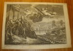 antique print (prent) - Aftekening der schilerye op `t stadhuis te Dordrecht geplaatst ter gedagtenisse van de overwinnning by Chatham,