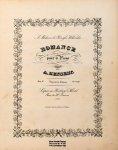 Henselt, Adolphe: - Romance pour le piano. Oeuv. 10