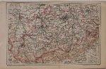 antique map (kaart). - Sachsen (Konigr) Sudlicher Teil.