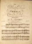 Jansen, Louis: - The celebrated dance in Tekeli, composed by Mr. Hook, arranged as a rondo for the piano forte by L. Jansen. No. 2